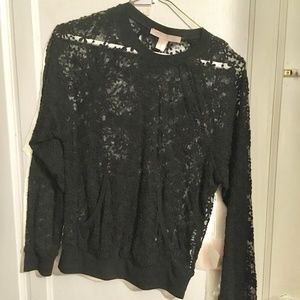 Sheer Black Lace Pullover